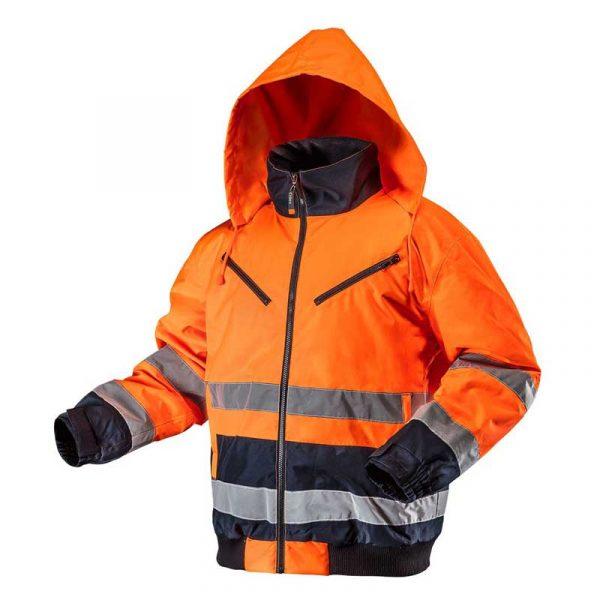 Izolirana reflektirajuća radna jakna narančasta S-XXXL NEO 81-711