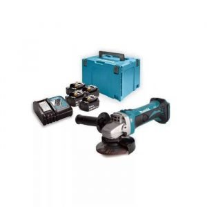 MAKITA Set baterija i brusilica DLXSET004 + DGA452Z
