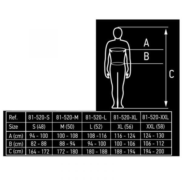 Radni reflektirajući prsluk S-XXXL NEO tablica