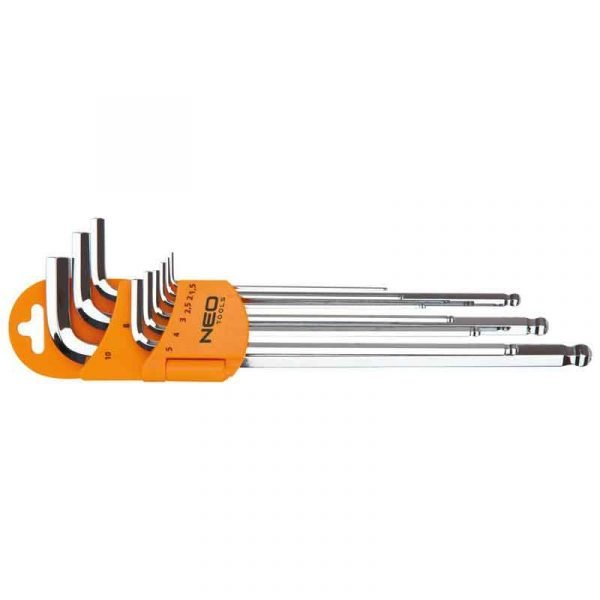 Set imbus ključeva s kuglom 1.5-10 mm NEO 09-515