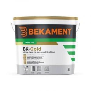 BEKAMENT Akrilna boja za unutrašnje zidove 1-5 l (BK-Gold)