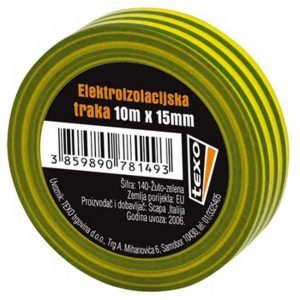 Elektroizolacijska traka žuto-zelena TEXO