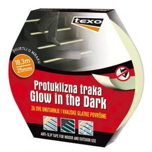 "Protuklizna traka ""Glow in the dark"" žuta TEXO"