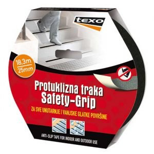 Protuklizna traka Safety-Grip 18,3 m 25 mm crna TEXO